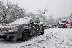 Spiegelglatte Straßen führen zu zahlreichen Unfällen