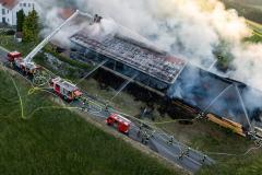 Großbrand bei Holzbaufirma in Waldburg